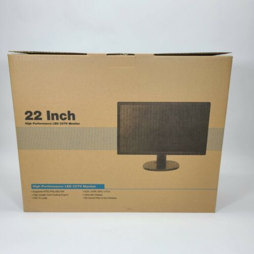 "High Performance LED CCTV Monitor 22"" DLE22 Surveillance HDMI BNC In/Out VGA"