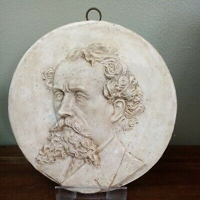 Vintage, Charles Dickens Portrait Wall Plaque