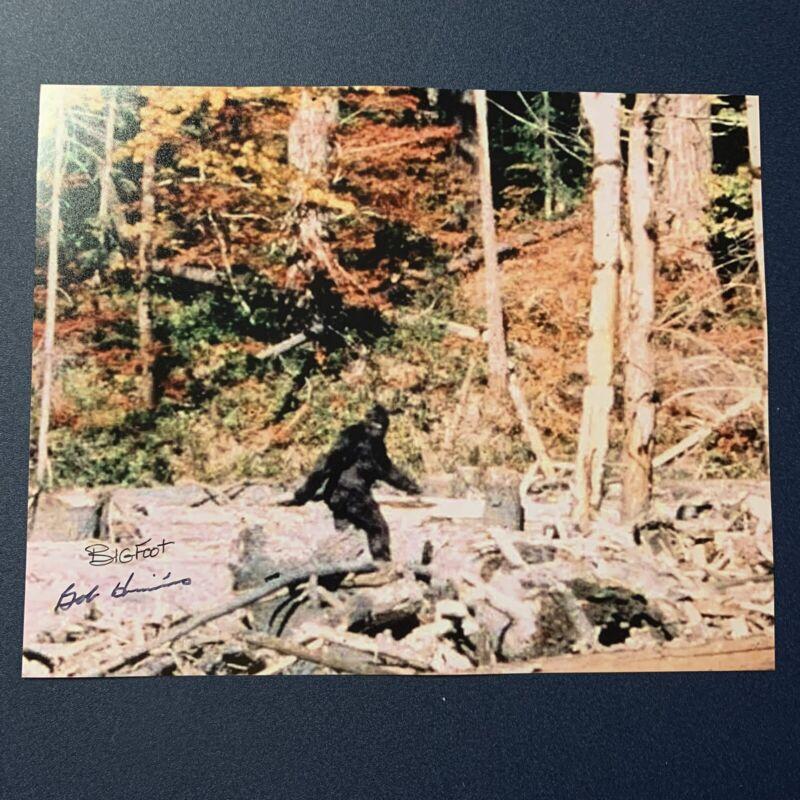 BOB HIERONIMUS HAND SIGNED 8x10 PHOTO AUTOGRAPHED BIGFOOT SUIT RARE COA