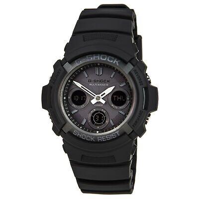 Casio Men's AWGM100B-1A G-Shock Black Resin Tough Solar Power Atomic Watch