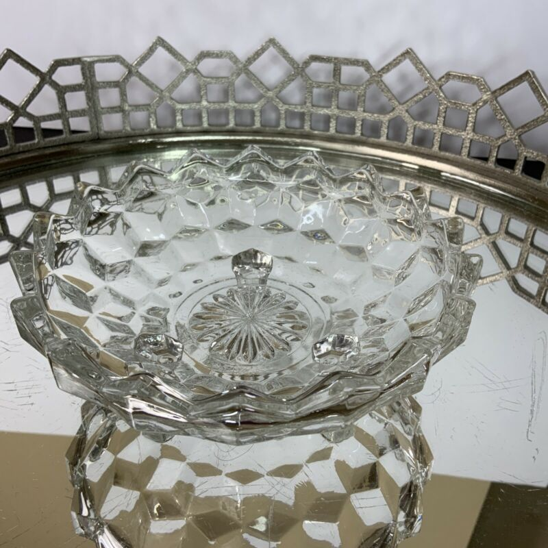 American Fostoria Footed Bowl Dish Nut Candy Elegant Glass 6 1/4 #N1
