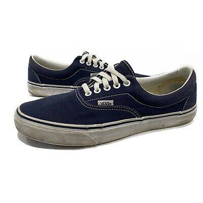 Vans Era Skate Navy Blue White Laces Mens 9.5 Womens 11 Canvas Shoes Unisex