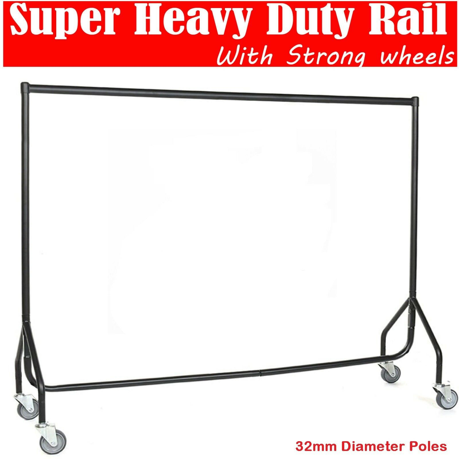4 FT WIDE /& HEIGHT FROM 6ft 8ft 7Ft HEAVY DUTY BLACK CLOTHES,GARMENT RAILS