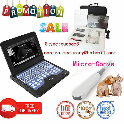 Catdogveterinary Laptop Ultrasound Scanner Machine Vet Micro Convex Probesale