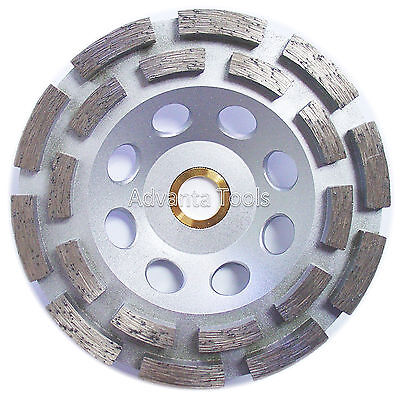 5 Double Row Concrete Diamond Grinding Cup Wheel - 78-58 Arbor