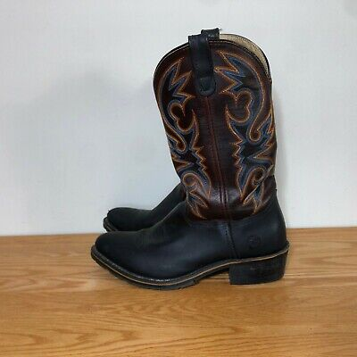 Double H Western Cow Boy Boots Men's 10 Brown Oil Resistant Hard Toe Work Boot
