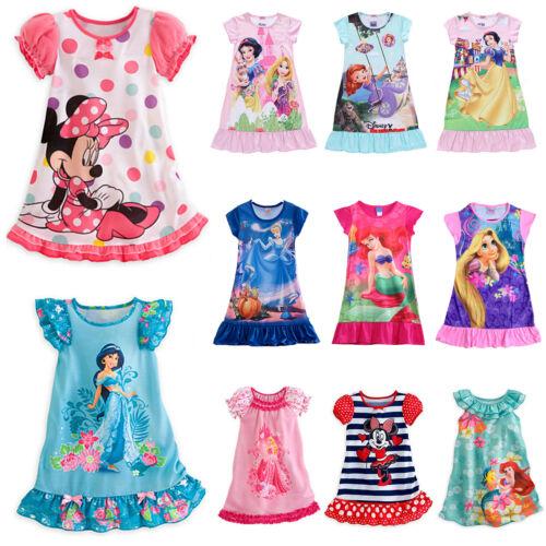 Mädchen Kinder Nachthemd Nachtwäsche Schlafanzug Sommerkleider Freizeit Kleider