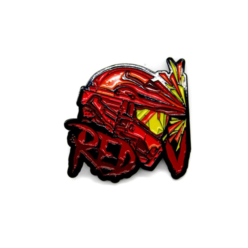 """Zobie Gamer - Limited Edition 2"""" Enamel Lapel Pin - Halo - Red"""