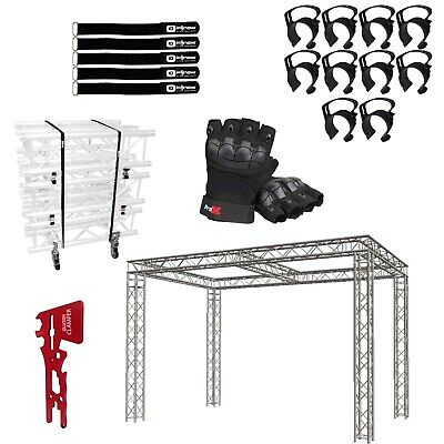 Global Truss 10x20x10 Center Beam Trade Show Booth With Accessories