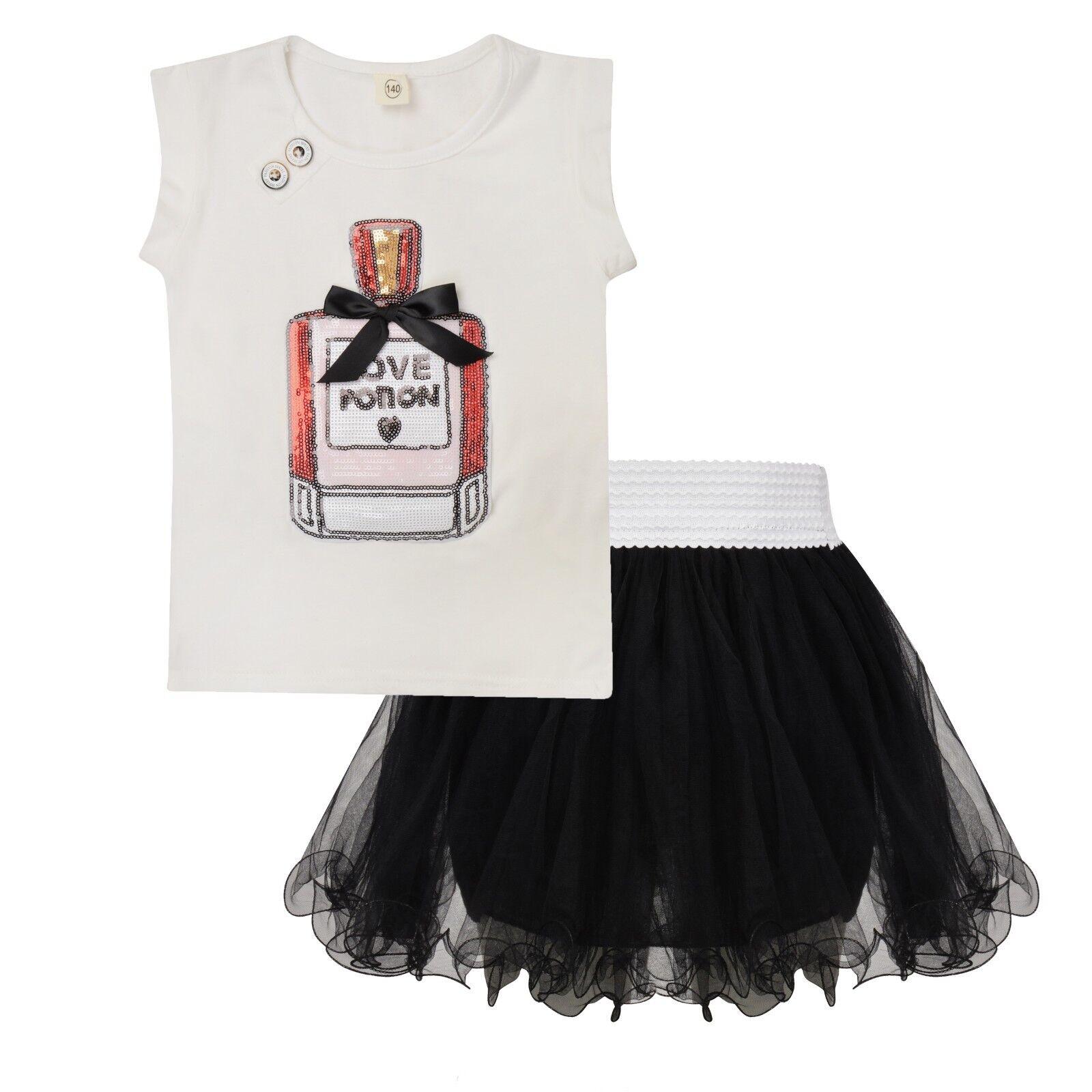 Pretty Girls Pink Flower Cotton Tee T Shirt and Tutu Skirt Matching Set SALE
