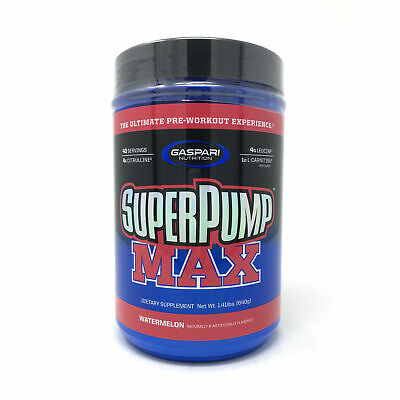 Gaspari SuperPump MAX Pre-Workout NO Drink 1.41 lbs 40 Serve