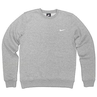 NIKE brossé ras du cou basic Club Sweat Vêtement de sport Pull LOISIR gris clair
