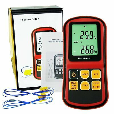 Dual Channel Kjters N Type Atc Thermocouple Thermometer Testers Useful