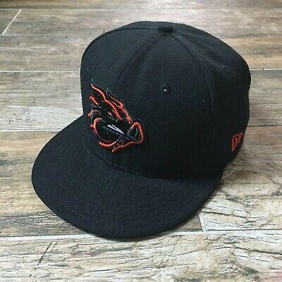 the latest 0b722 fc77d LEHIGH VALLEY IRON PIGS 59FIFTY Hat Cap Black MiLB New Era 6 7 8 Alternate  EUC