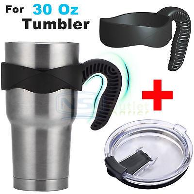 Handle Lid for 30 Oz YETI RTIC Ozark Trail Rambler Sic Tumbler Travel Cup Holder](Travel Cups)