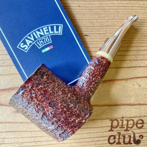 Savinelli Dolomiti Rusticated (311 KS) Poker 6mm Filter Pipe - NEW