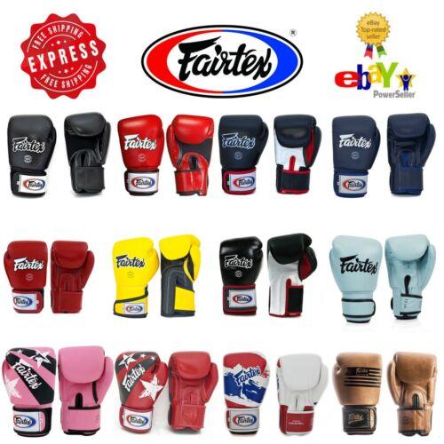 Fairtex Gloves Muay Thai Kick Boxing MMA K1 BGV1 BGV5 BGV6 Black Blue Red White