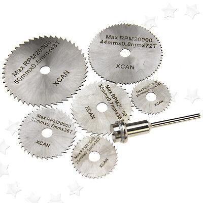 7er HSS Schmuck Diamant Glas Metall Trennscheibe Schleifscheibe für Dremel