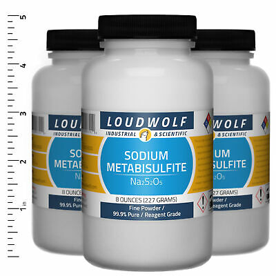 Sodium Metabisulfite 1.5 Lb Total 3 Bottles Reagent Grade Fine Powder