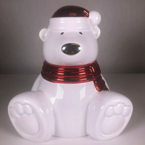 2009 Harry Slatkin Paws the Polar Bear Ceramic Scented Candle Holder