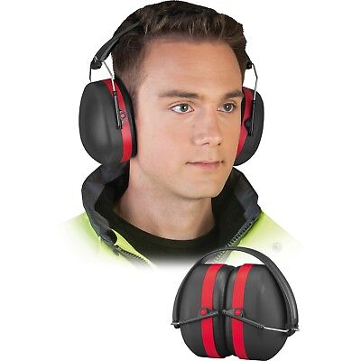Kapselgehörschutz Gehörschutz Arbeitsschutz Schwarz Rot starke Dämmung SNR 29dB