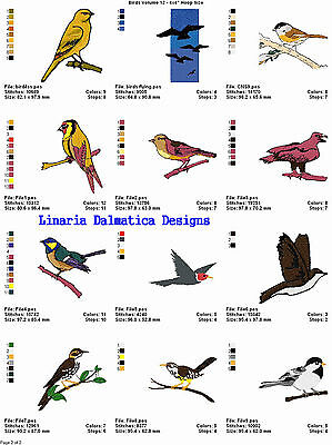 BEAUTIFUL BIRDS V.12(4x4) LD MACHINE EMBROIDERY DESIGNS
