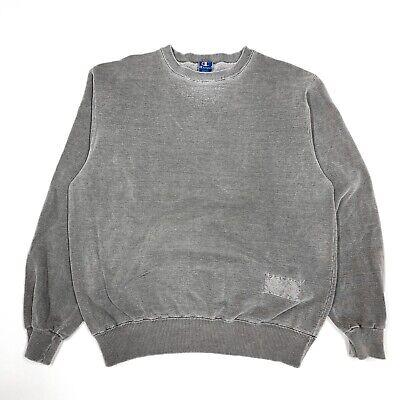 Vintage Champion Sweatshirt Grey Acid Wash 90s USA MADE Large