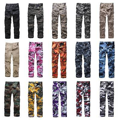 Army Military Pants (Mens Womens Casual Fashion Camo Cargo Pants Military Combat Army style BDU Pants)