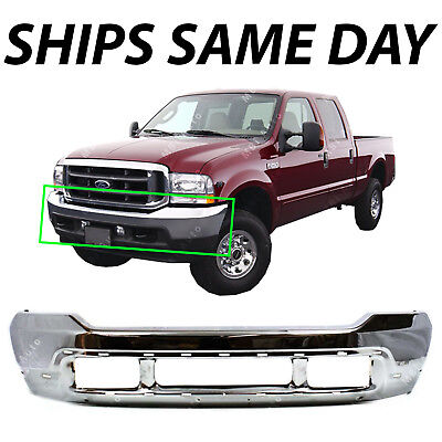 NEW   Steel Chrome Front Bumper Shell Fascia for 1999 2004 F250 F350 Super Duty