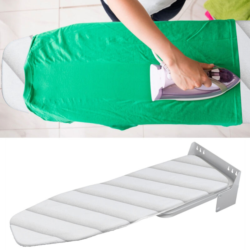 Foldable Wall Mounted Ironing Board Table Wall Hanging Laundry Space Saver