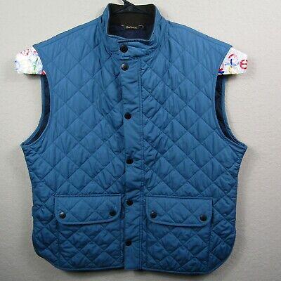 Barbour Lowerdale Mens Quilted Blue Gilet Vest Size XXXL 3XL