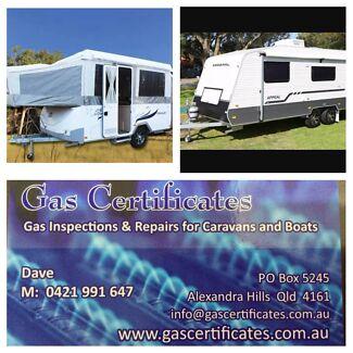 Caravan gas certificates