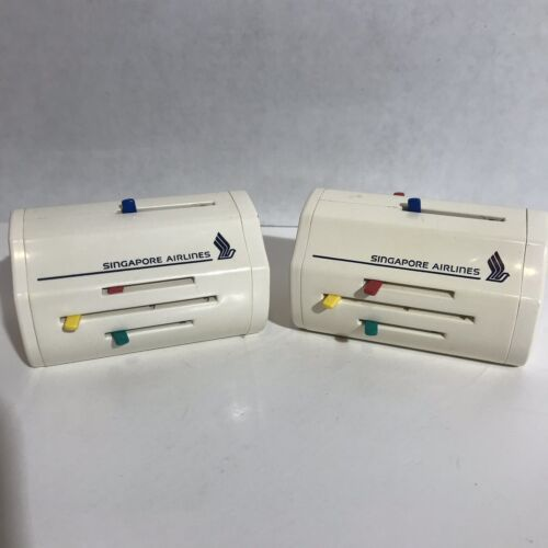 Pair Of Singapore Airlines Vintage Travel Plug Travel Adapters- 3 Flat Shipping - $20.00