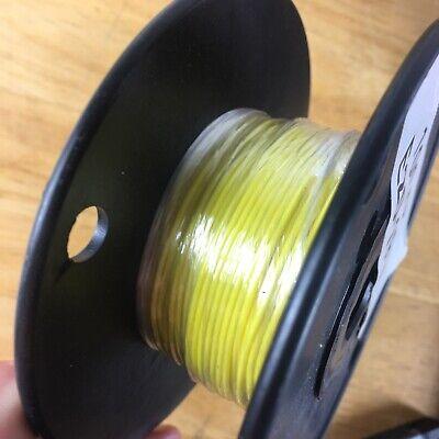 Yellow Stranded Teflon Hook-up Wire - 100ft 20 Awg E Type 1000v 19 Strand