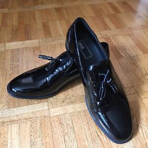 NEW ASOS dress shoes black patent loafers (grad prom wedding)