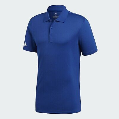 Adidas Herren Performance Polo Shirt Golf Royal Blau Hemd Uni UV-Schutz LSF 50+ - Adidas Golf Shirt