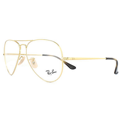 Ray-Ban Glasses Frames 6489 Aviator 2500 Gold 55mm