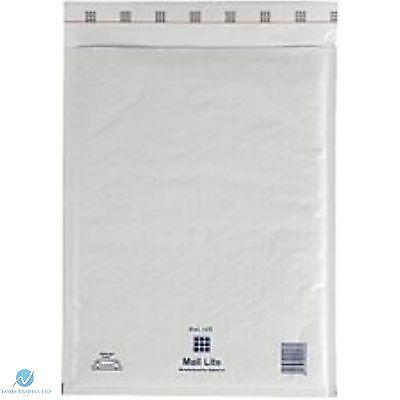 25 K7 K/7  White 350 x 470 mm Padded Bubble Wrap Mail Lite Postal Bag Envelope