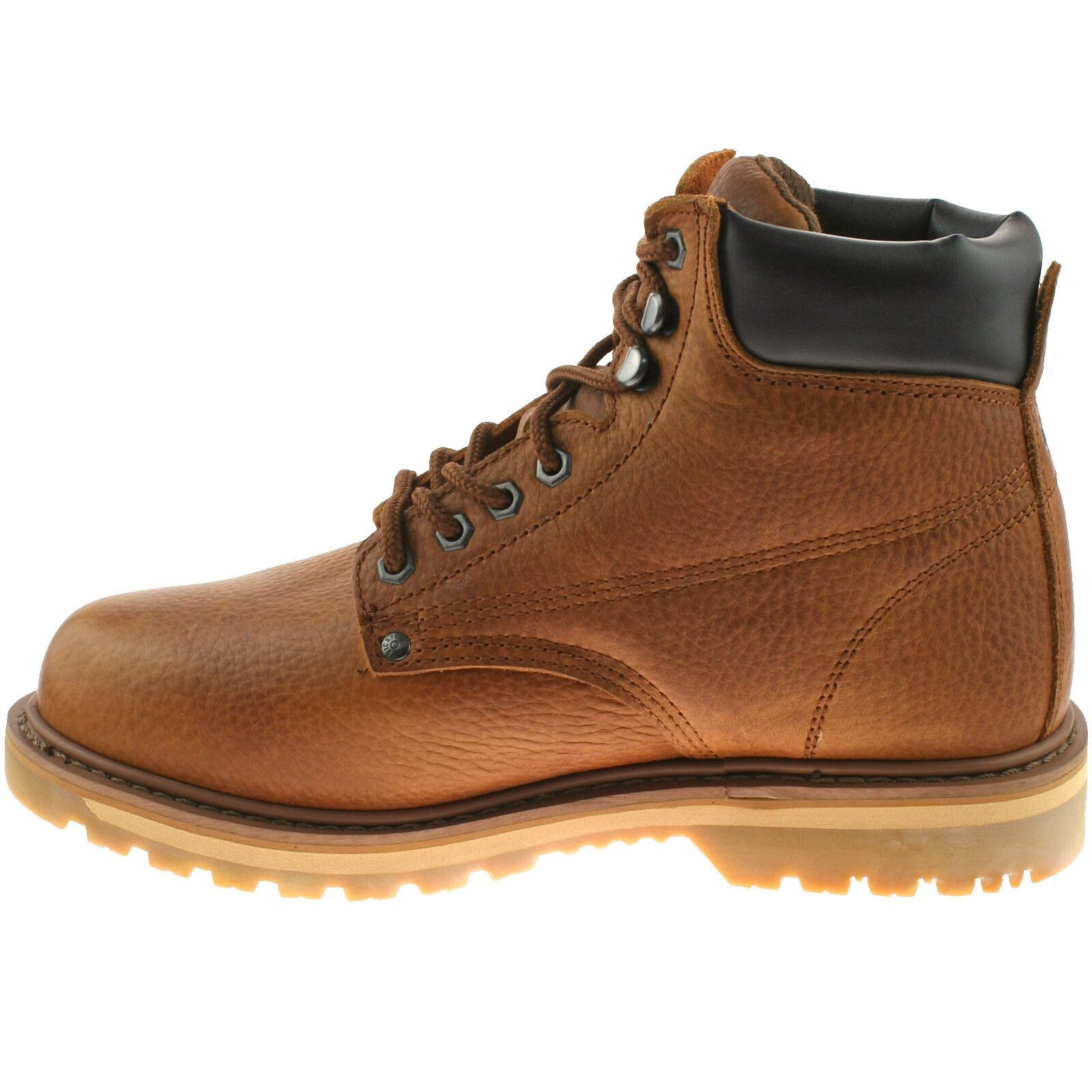 Details zu Herren dickies Welton keine Sicherheit Stiefel Hellbraun Größe Eu 6 12 Leder