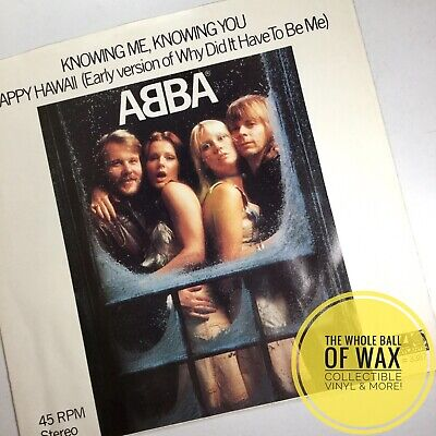 ABBA Knowing Me, Knowing You / Happy Hawaii PICTURE SLEEVE ONLY, NEAR MINT