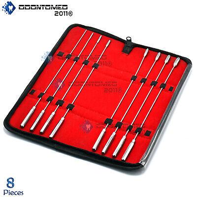 Bakes Rosebud Urethral Sounds Dilator 8 Pcs Set Surgical Stainless Steel