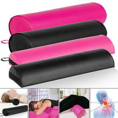 Bolster Full/Half Round Foam Leather Bed Pillow Neck Cervical & Lumbar Support ()