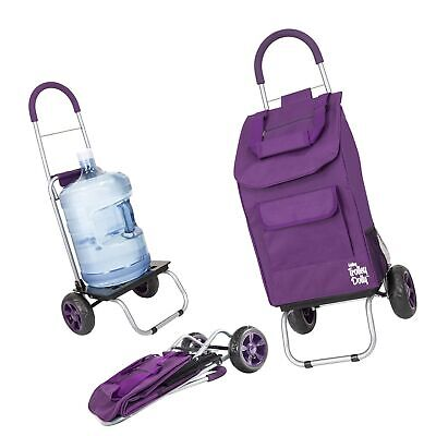 Trolley Dolly Purple Shopping Grocery Foldable Cart - New