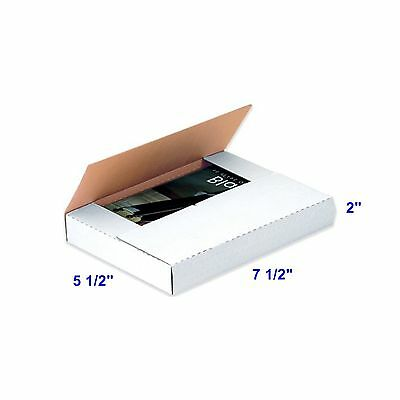 50 Pack 7 12 X 5 12 X 2 Multi Depth Cardboard Book Mailer Shipping Box Boxes