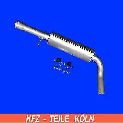 Audi A3 1.8 Exhaust Muffler Centre Muffler Exhaust System + Assembly Kit