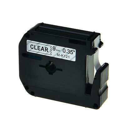 Black On Clear 9mm Tape For Brother P-touch Pt-90 Mk121 M-k121 Label Maker 1pk