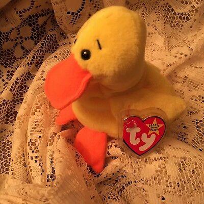 Duck Quackers ( Ty Beanie baby Yellow duck  Quackers)