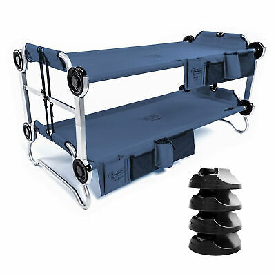 Disc-O-Bed Youth Kid-O-Bunk Benchable Bunk Double Cot w/ No