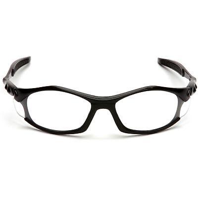 Pyramex Solara Safety Glasses with Clear Lens, Black (Solara Glasses)
