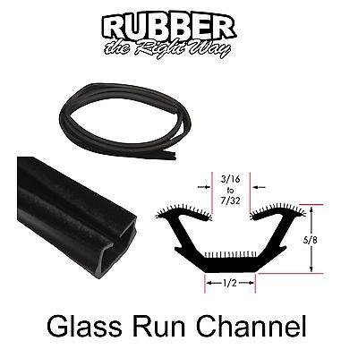"Universal Window Run Channel - Flexible - 5/8"" Tall X 1/2"" Wide - 8' Strip"
